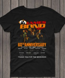 James Bond 007 60th Anniversary 1962 2022 Signature Thank You For The Memories Shirt