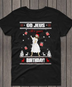 Official Go Jesus its Your Birthday Funny Christian Ugly Christmas T Shirt